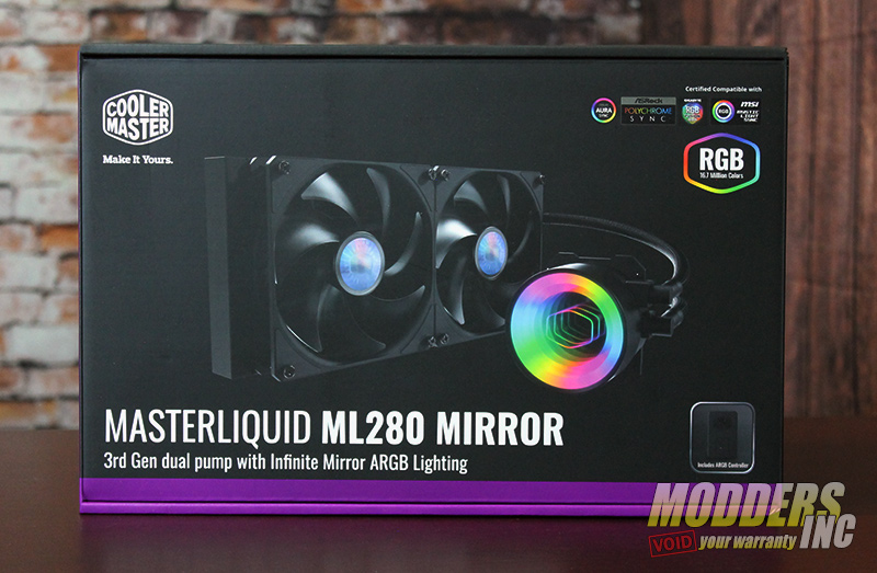 Cooler Master Masterliquid ML280 Mirror AIO AIO, Cooler Master, Water Cooling 1