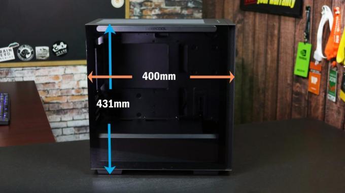 DeepCool Macube 110 left side measurements