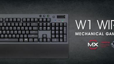 Thermaltake W1 WIRELESS Mechanical Gaming Keyboard Gaming Keyboard, Thermaltake, Wireless keyboard 3