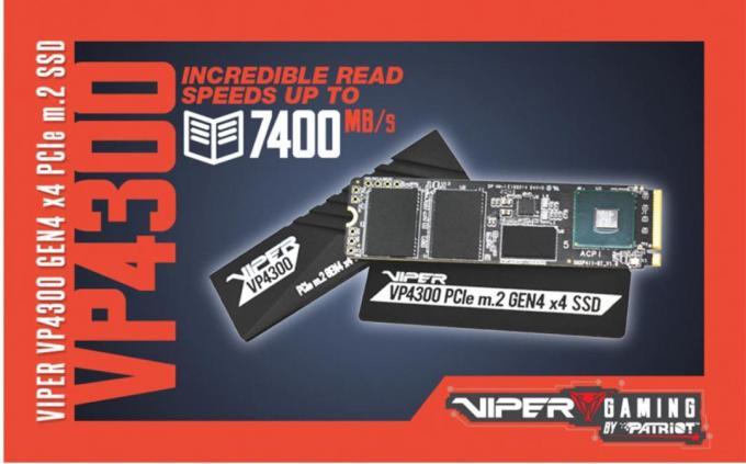 NEW VIPER VP4300 PCIe Gen4 x4 M.2 2280 SSD m.2, Patriot, PCIE, SSD, viper 2