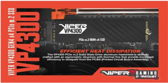 NEW VIPER VP4300 PCIe Gen4 x4 M.2 2280 SSD m.2, Patriot, PCIE, SSD, viper 3