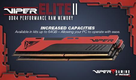 VIPER GAMING Launches VIPER ELITE II Performance DDR4 Memory ddr4, Memory, Patriot, RAM, viper 2