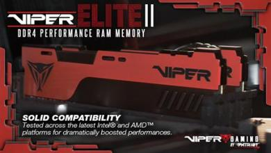 VIPER GAMING Launches VIPER ELITE II Performance DDR4 Memory ddr4, Memory, Patriot, RAM, viper