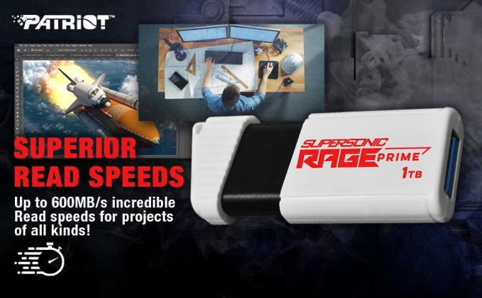 Patriot launches the SUPERSONIC RAGE PRIME USB 3.2 Gen 2 Flash Drive