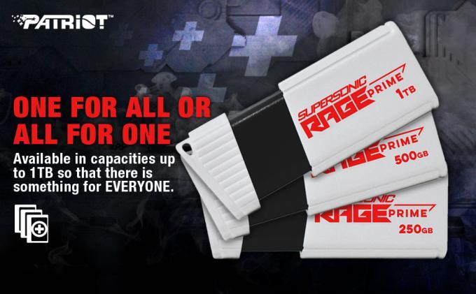 Patriot New SUPERSONIC RAGE PRIME USB 3.2 Gen 2 Flash Drive Flash Drive, Patriot, SSD, thumb 1