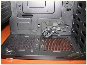 chassis bottom and psu area