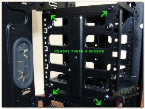 hdd cage removable panel