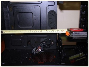 hdd cage panel removed
