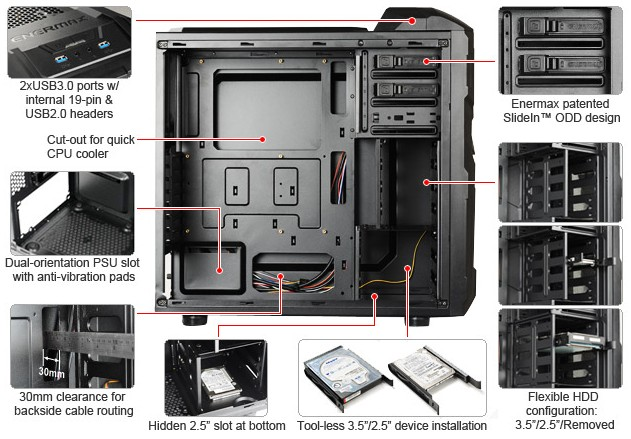 Enermax Coenus Computer Case Enermax, Mid Tower