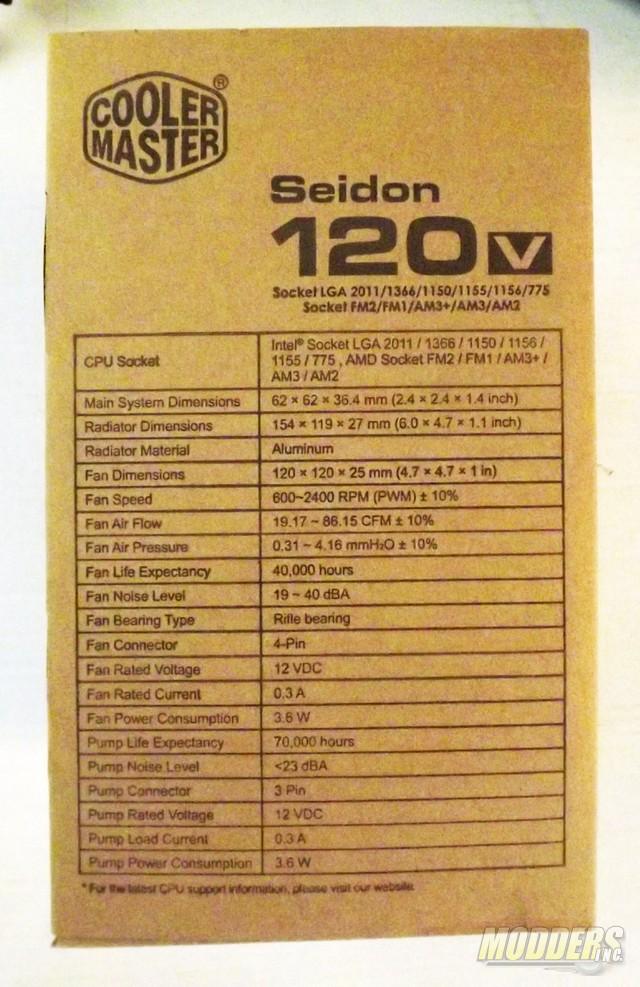 Cooler Master Seidon 120v All In One CPU Cooler AIO Cooler, Cooler Master, CPU Cooler, Water Cooling