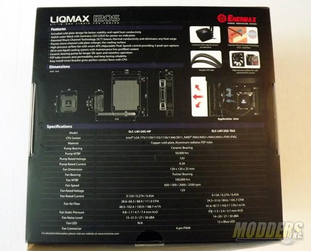 Enermax LIQMAX 120S All-In-One CPU Cooler CPU Cooler, Enermax, Water Cooler 3