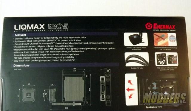 Enermax LIQMAX 120S All-In-One CPU Cooler CPU Cooler, Enermax, Water Cooler 5