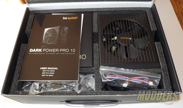 be quiet! Dark Power Pro 10 850W what is inside the box