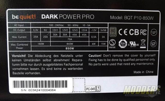 be quiet! Dark Power Pro 10 850W 80 Plus Platinum Modular PSU Overview 850 w, be quiet!, power supply 4