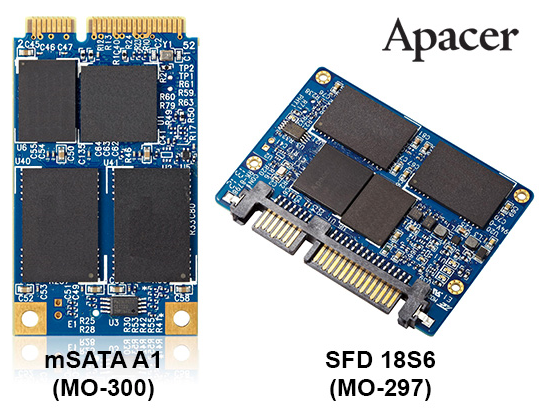 Apacer Launches Two ULTRA SLIM SSDs: JEDEC MO-297-compliant SFD 18S6 and MO-300-compliant mSATA A1 Apacer, SSD 1