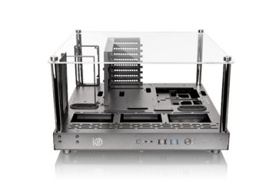 Thermaltake Core P3 ATX Wall Mount Panoramic Viewing LCS Chassis-3-Way Placement Layout