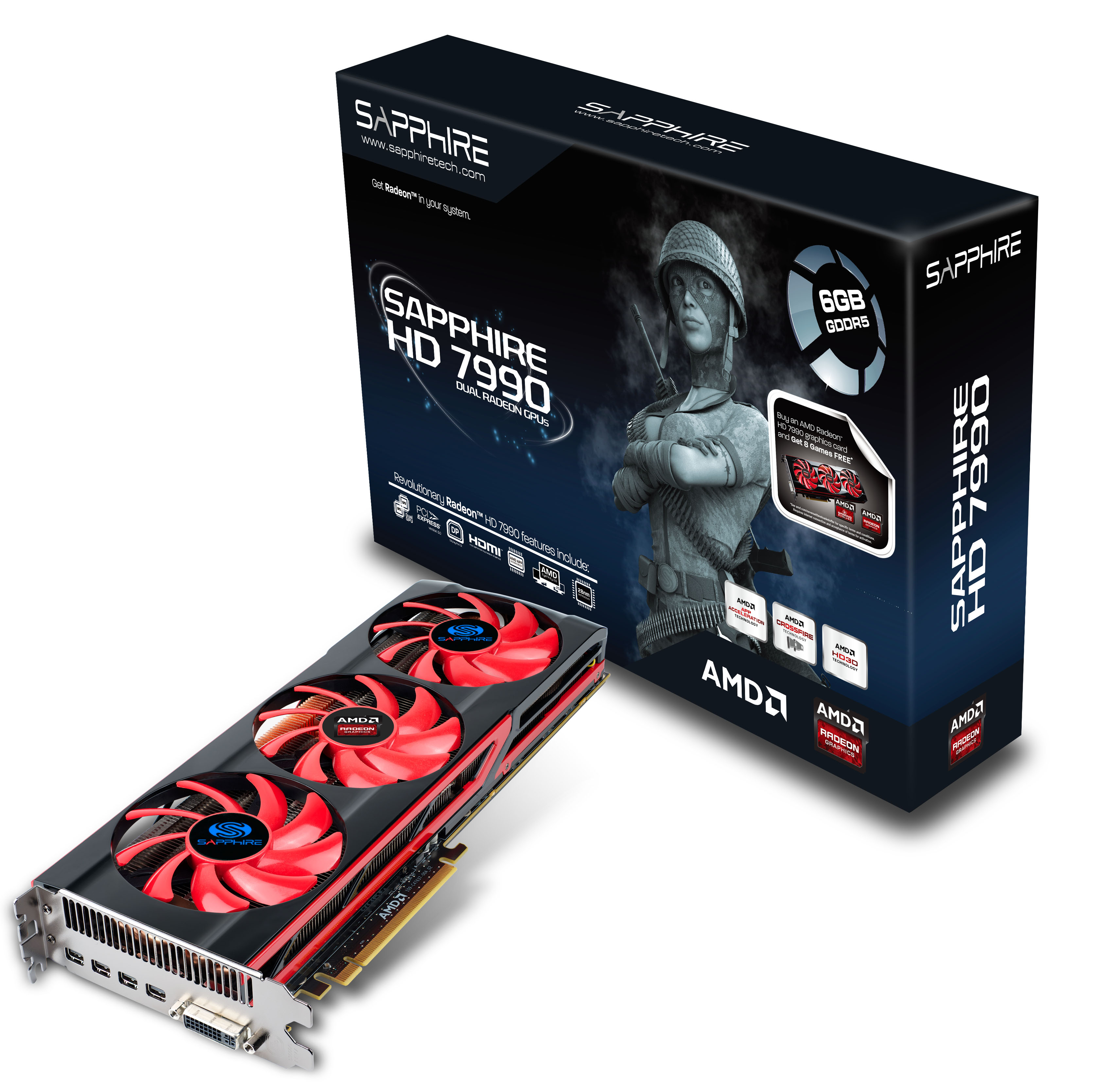AMD and SAPPHIRE Releases The SAPPHIRE HD 7990 AMD, Sapphire, Video Card 1