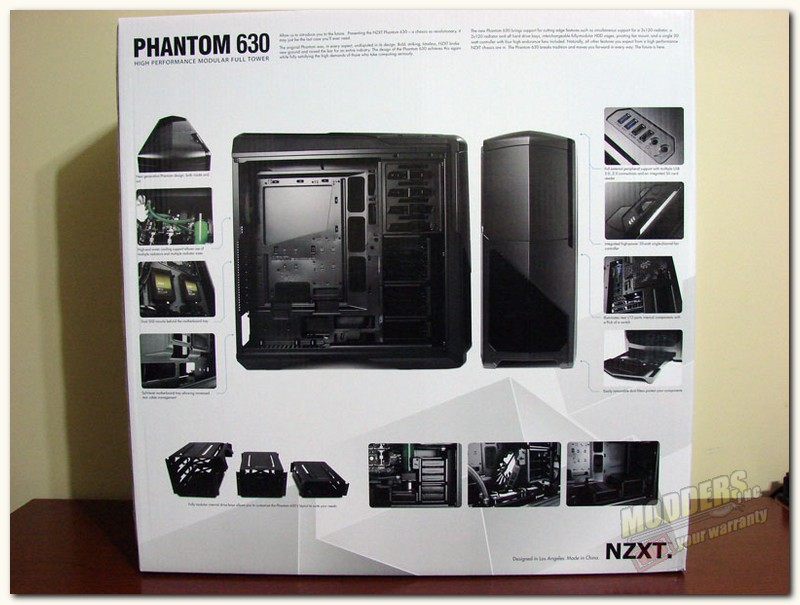 NZXT Phantom 630 box rear