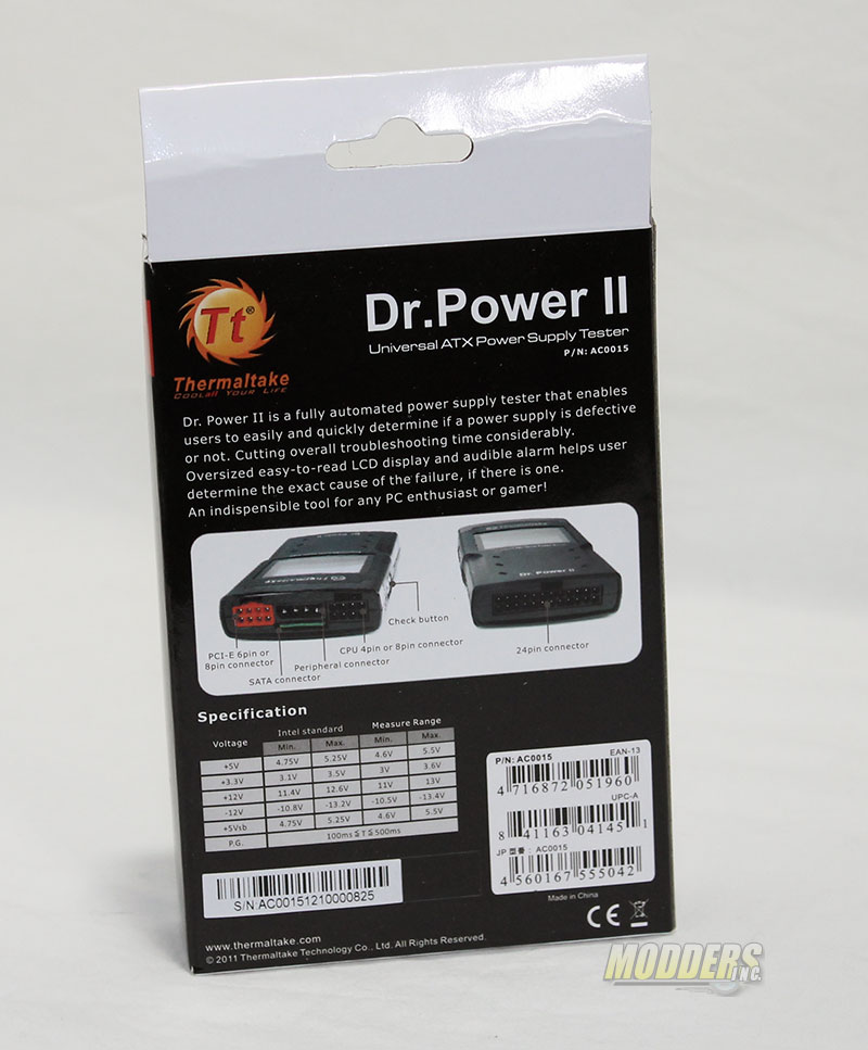 Thermaltake Dr.Power II ATX Power Supply Tester Tt DR Power2 03